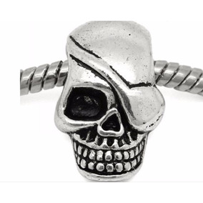 Skull Bead Pirata, Caveira, Crânio De Metal Para Paracord