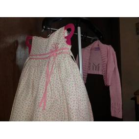Set De Vestido Y Suéter Tipo Torera Para Niña Talla 18 Meses