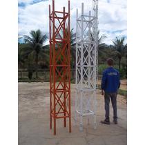 Torre Quadrada Para Internet A Radio Estaiada E Galvanizada