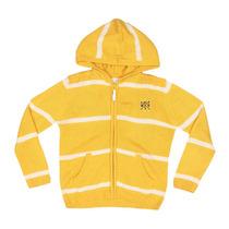 Jaqueta Em Tricô. Amarela & Branca. Milon - 8