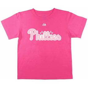 Majestic Philadelphia Phillies Playera Niñas 6x