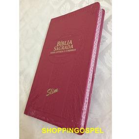 Kit 05 Bíblias Slim Luxo Rc Harpa Corinhos Cores Ed Cpp