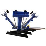 4 Color Pantalla Imprenta Máquina Serigrafía Presionando Diy