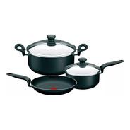 Batería De Cocina Teflon Pratika Antiadh 5pz Tefal(tpvidrio)