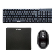 Combo Teclado + Mouse + Pad Liso Usb Pc Notebook Oficina Kit