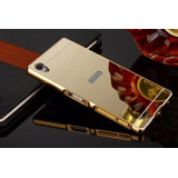 Capa Case Bumper Espelhada Sony Xperia Z5 Tela 5.2+1p/vidro