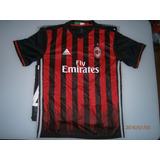 Camiseta Milan De Italia Bolotteli Adulto