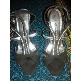 Zapato Sandalia Mujer Baile Cuero Importados Taco 10 Cm
