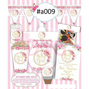 Etiquetas E Invitacion Vintage Flores Baby Shower, Bautizo3