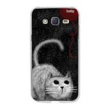 Capa Personalizada Galaxy J5 Gato Novelho Giz Husky