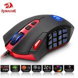 Mouse Gamer Redragon 16400 Dpi 18 Botones Programables