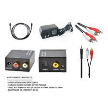 Convertidor Adaptador Digital Audio Optico Rca +cable Óptico