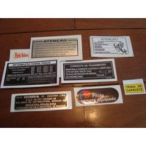 Adesivos De Advertencia Cg / Ml / Turuna 125 86 A 88