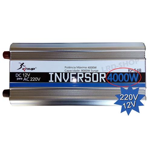 Inversor Onda Senoidal Modif 4000w 12v P/ 220v 4000 Watts