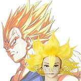 Peruca Vegeta Goku Super Sayajin Loiro Alta Qualidade