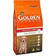 Ração Golden Formula Cães Filhotes Frango E Arroz 20kg Pett