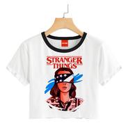 Blusa Dama Stranger Things Playera Eleven Once Crop #696