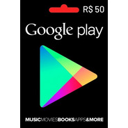 Google Play Store Gift Card R$50 Reais Android