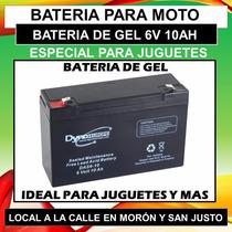 Bateria De Gel 6v 10ah Para Juguetes Autos Electricos