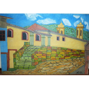Igrej Ouro Preto Á Tarde 1994 Mestre Vicente Veigas Tec Expr