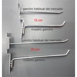 Ganchos Blisteros Para Placas Ranuradas 50u (20cm X 6mm)