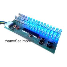 Vu Meter Com Led Azul 2 Canais Microcontrolado 32 Leds