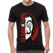 Camiseta Unissex La Casa De Papel Mascara Dali
