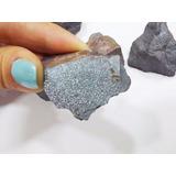 Gema Hematita Bruta Natural 2cm Pedra Cinza Minério De Ferro