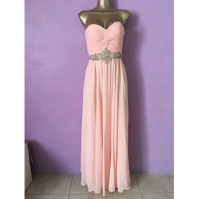 Vestidos color rosa palo largos