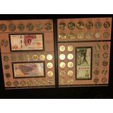 Álbum De Monedas De 5, 10 Y 20 Pesos Y Billetes De 100 Y 200