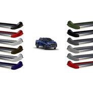 Estribo Personalizado Gp Fiat Toro Preto Fosco 2016 2021