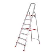 Escalera Aluminio Tijera Con Apoyo 7 Escalones 139cm Kulbart
