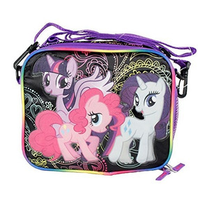 My Little Pony Negro Bolsa De Almuerzo Aislada Con Bolsillo