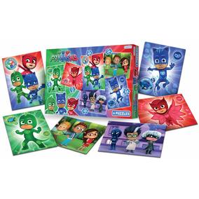 Heroes En Pijamas 6 Puzzles 16x20 12 A 48 Piezas Educando
