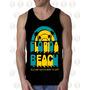 Camisilla Hombre Esqueleto 100% Algodon Florida Beach Playa