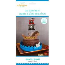 Decoración Para Pastel Pirata 21 Piezas