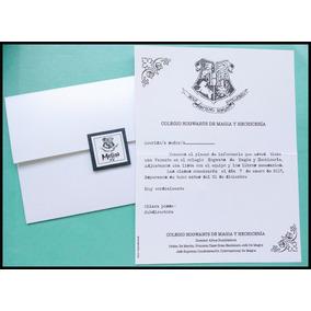 Harry Potter Invitaciones Tarjetas Quince Años Golosinas