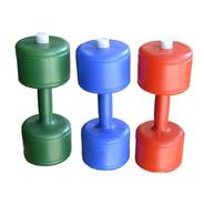 Mancuerna Plastica Recargable Hasta 2kg - Pack X 2