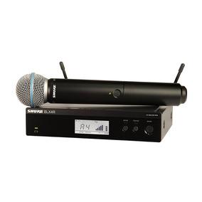 Microfone S/ Fio Shure Blx24r Beta 58a J10 - Original C/ Nf