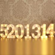 Luminária Led 3d Números Branca/quente 22 Cm Decoração Festa