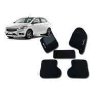 Jogo Tapetes Ecotap Soft Carpete Chevrolet Onix 12/17 Preto