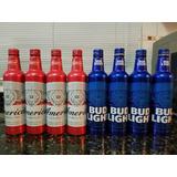 Par Garrafas Budweiser Aluminio Dos Estados Unidos-