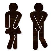 Placa Porta Banheiro Segura Xixi Masculino E Feminino