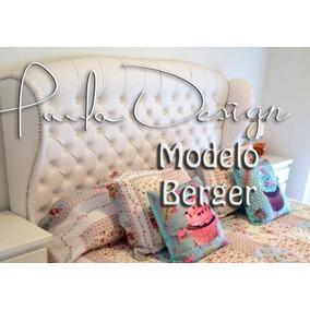 Respaldo Sommier Capitone Modelo Berger King Paula Design