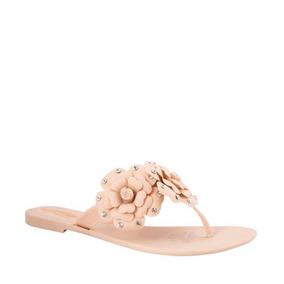 Sandalias De Playa Para Mujer Con Flores Y Piedras 170497