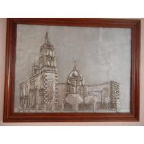 Cuadro De Aluminio Repujado Iglesia Analco Durango