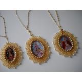 Medallas Medallones De Virgenes Y Santos Con Cadenas