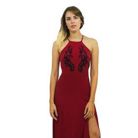 Vestido Cambria Largo Fiesta Bordado Mujer, Brishka V-0058