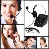 Telefono Diadema Call Center Pbx Dial Pad Pantalla Lcd Graba