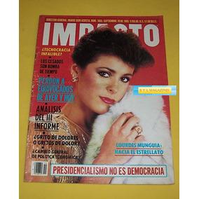 Lourdes Munguia Raphael Revista Impacto 1985 Envio Gratis